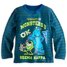 MONSTERS UNIVERSITY LS TEE BOYS SIZE 4 NWT OK FRAT PACK MIKE & SULLEY SCREEN ART