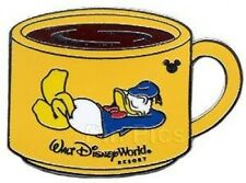 Disney Pin: WDW Cast Lanyard Collection 4 Coffee Mugs - Donald Duck