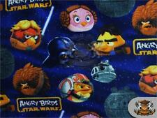 "Polar Fleece Fabric Print LARGE ANGRY BIRDS STARWARS 60"" Wide Sold BTY S-543"