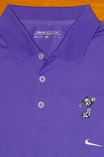 NIKE GOLF DRI FIT PURPLE MESH POLO SHIRT SH. SLEEVE SEWN MICKEY MOUSE EC! XL