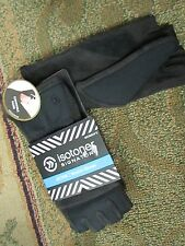NEW ISOTONER BLACK STRETCH CONVERTIBLE MITTENS GLOVES FINGERLESS  FREE SHIP!