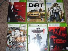 6 XBOX 360 Action Adventure Video Game Lot Bundle! Ninja Gaiden, Sleeping Dogs!