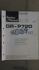 Pioneer gr-p720 service manual original repair book stereo