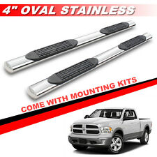 """4"""" OVAL S/S Side Step Nerf Bars For 09-16 DODGE RAM 1500 QUAD CAB Running Boards"""