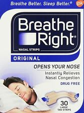 Breathe Right Nasel Strips Large - 30 Strips - 2 Pack