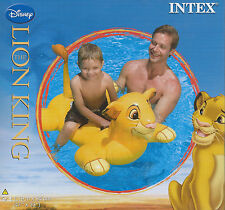 Intex Disney The Lion King Simba Animal Ride On Inflatable Pool Swim Float