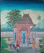 "Collectible Haitian Art Painting Master Rony Guerrier 20""X24"" Haiti Cap Haitien"
