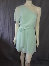 Express one shoulder flutter sleeve chifon dress size XS