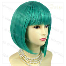 Stunning Cosplay Jade Green mix Bob Style Short Ladies Wigs from WIWIGS UK
