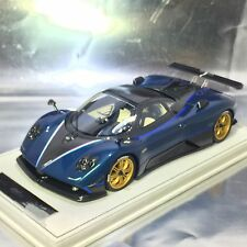 1/18 Peako #80800 Pagani Zonda Tricolore Blue Metallic Ltd 100 with display case