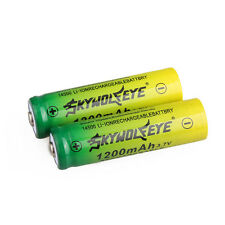 2X Rechargeable 14500 3.7V 1200mAh Li-ion Batteries For Flashlight Torch