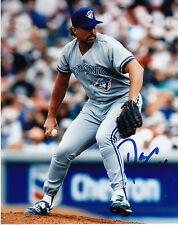 DANNY COX  TORONTO BLUE JAYS   ACTION SIGNED 8X10