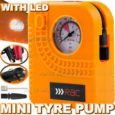 12v Car Motor Cycle Bike RAC Compact Mini Tyre Pump Inflator Air Compressor