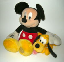"MICKEY MOUSE 14"" & PLUTO 8"" Stuffed Toys Disney Store items"