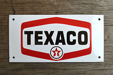 Heavy quality porcelain advertising sign Texaco garage plaque