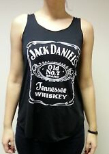 JACK DANIELS noir t-shirt débardeur tank top jack DANIEL t-shirt whiskey Old No.7