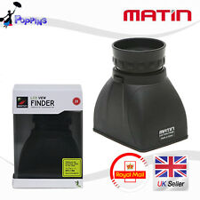 "Matin M-6296 2X LCD View Extender Magnifier Loupe Hood up to 3.2"" LCD Screen"