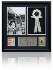 Jack Charlton Hand Signed Leeds United 1972 FA Cup Final Presntn Photo Proof COA