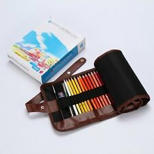 48 Water Soluble Water Color Wooden Pencil + Brush Set Artists Supply