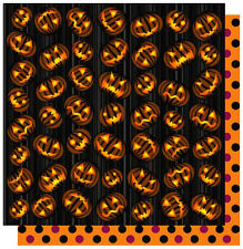 """Best Creation BEWARE OF JACK Glitter 12""""x12"""" Scrapbooking Papers x2 Sheets"""