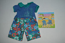 American Girl Bitty Baby Twins Tropical Boys Shorts Set for Dolls+ Book RETIRED