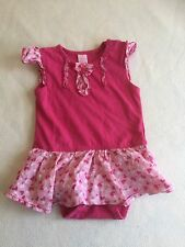 Baby Girls Clothes 3-6 Months - Frilly Dress Vest  Top Bodysuit