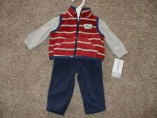 Carter's Baby Boys Fleece Vest 3pc Set Outfit Size NB Newborn NWT NEW Clothes
