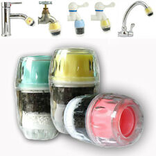 Coconut Carbon Mini Faucet Tap Water Clean Purifier Filter Filtration Head Easy