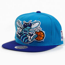 NBA Mitchell & Ness Charlotte Hornets XL Logo Two Tone Snapback Hat - Creole