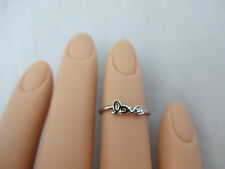 Love mid ring silver base metal size 3 any finger engagement wedding Oori
