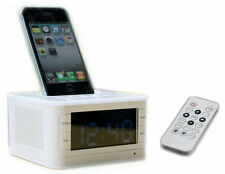 30 Pin Charging Dock Stereo Speaker Remote Control For iphone 4 4S ipod