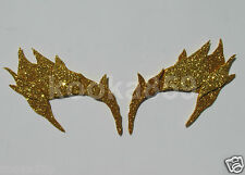 Poison Ivy Eyebrows Gold Leaf Extreme Glitter eye mask costume Riddler Cosplay