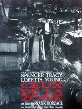 Affiche 40x60cm CEUX DE LA ZONE (1933) Loretta Young, Spencer Tracy R2012 NEUV #