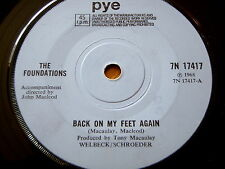 "THE FOUNDATIONS - BACK ON MY FEET AGAIN  7"" VINYL"
