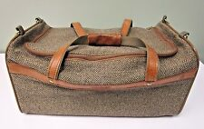Hartmann Luggage Tweed Belting Leather Carry On Garment Duffel Travel Bag