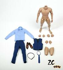 "ZC TOYS 1/6 Scale Gentleman Suit Clothes Blue Costume Set Fit 12"" Male Figure"
