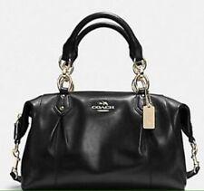 """COACH F33806 Colette All Leather Black Satchel Shoulder Bag """"""""MINT"""""""" MSRP$ 428"""