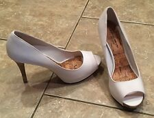 NEW Womens Stiletto Heels - Size 12 White Pumps - Peep Toe Ladies Shoes