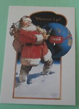 Wherever I Go Original Painting Haddon Sundblom Santa  Coca-Cola Postcard ©1991