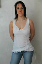 t-shirt top coton blanc HIGH USE taille M  NEUF ÉTIQUETTE * TOP LUXE *