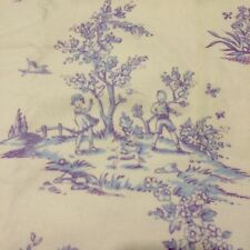 Pottery Barn Kids Isabelle Lavender Toile French Country Curtain NEW