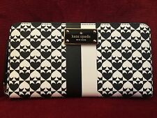 NWT KATE SPADE PENN PLACE CLASSIC SPADE NEDA WALLET IN IN BLACK