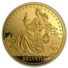 1987 Switzerland 12 Unzen Gold Proof Helvetia