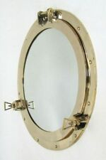 "20"" Brass Porthole Mirror ~ Porthole ~ Ship Porthole ~ Nautical Decor ~ Maritime"