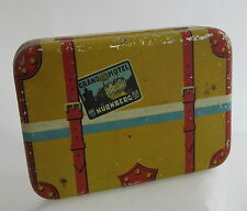 Vintage Keim & Co Germany Tin Litho Travel Suitcase Luggage Candy Container
