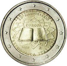 2 EURO COMMEMORATIVA ITALIA 2007 TRATTATI DI ROMA REPUBBLICA ITALIANA RARA