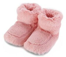 Intelex Cozy Boots Pink Heatable Microwavable Luxury Furry Bed Warmer Slippers