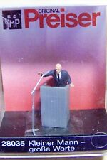 HO Preiser 28035 Politician / Man at Podium with Microphone : 1/87 Figure