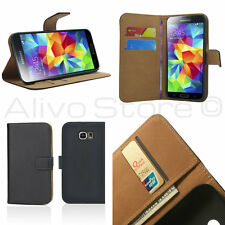 Samsung Galaxy S6 Genuine Real Leather Wallet Card Money Slot Stand Case Cover