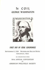 #1283B First Day Ceremony ASDA Program 5c George Washington